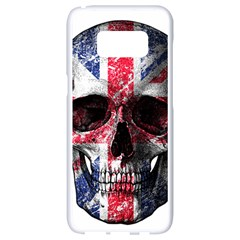 Uk Flag Skull Samsung Galaxy S8 White Seamless Case