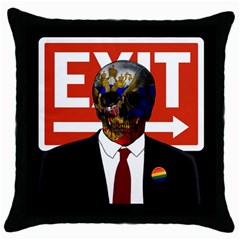 Dualism Throw Pillow Case (black)