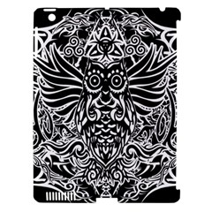 Tattoo Tribal Owl Apple Ipad 3/4 Hardshell Case (compatible With Smart Cover)