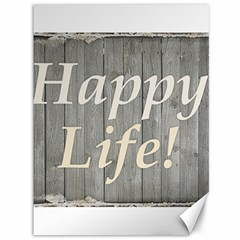 Happy Life Letters Shabby Style Poster Canvas 36  X 48