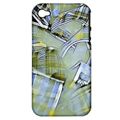 Another Modern Moment Yellow Apple Iphone 4/4s Hardshell Case (pc+silicone)