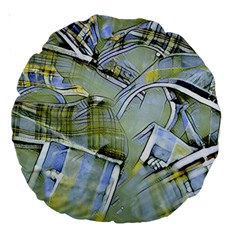 Another Modern Moment Yellow Large 18  Premium Round Cushions
