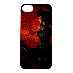 Steampunk, Wonderful Steampunk Lady In The Night Apple Iphone 5s/ Se Hardshell Case