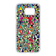 Psychedelic Background Samsung Galaxy S7 Edge White Seamless Case