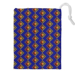 Blue Geometric Losangle Pattern Drawstring Pouches (xxl)
