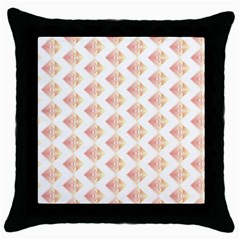 Geometric Losangle Pattern Rosy Throw Pillow Case (black)