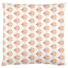 Geometric Losangle Pattern Rosy Large Flano Cushion Case (one Side)
