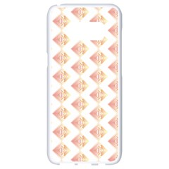 Geometric Losangle Pattern Rosy Samsung Galaxy S8 White Seamless Case