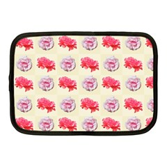 Yellow Floral Roses Pattern Netbook Case (medium)