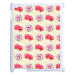 Yellow Floral Roses Pattern Apple Ipad 2 Case (white)