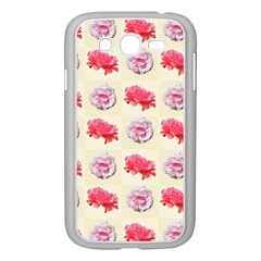 Yellow Floral Roses Pattern Samsung Galaxy Grand Duos I9082 Case (white)