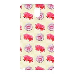 Yellow Floral Roses Pattern Samsung Galaxy Note 3 N9005 Hardshell Back Case