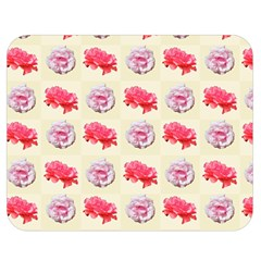 Yellow Floral Roses Pattern Double Sided Flano Blanket (medium)