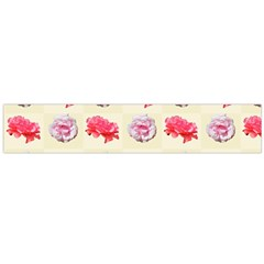 Yellow Floral Roses Pattern Flano Scarf (large)
