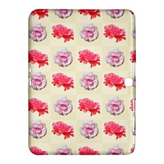 Yellow Floral Roses Pattern Samsung Galaxy Tab 4 (10 1 ) Hardshell Case