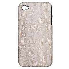 Off White Lace Pattern Apple Iphone 4/4s Hardshell Case (pc+silicone)