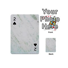 Greenish Marble Texture Pattern Playing Cards 54 (mini)