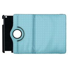 Blue Pattern Apple Ipad 2 Flip 360 Case