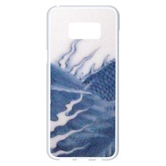 Blue Chinese Dragon Samsung Galaxy S8 Plus White Seamless Case