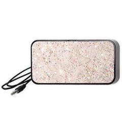 White Sparkle Glitter Pattern Portable Speaker (black)