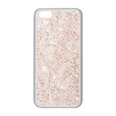 White Sparkle Glitter Pattern Apple Iphone 5c Seamless Case (white)