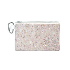 White Sparkle Glitter Pattern Canvas Cosmetic Bag (s)
