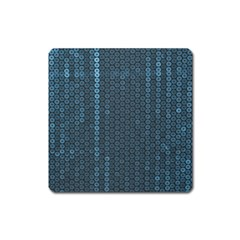 Blue Sparkly Sequin Texture Square Magnet