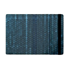 Blue Sparkly Sequin Texture Apple Ipad Mini Flip Case