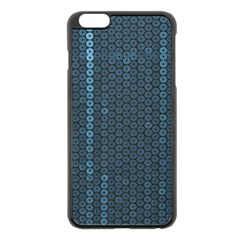 Blue Sparkly Sequin Texture Apple Iphone 6 Plus/6s Plus Black Enamel Case