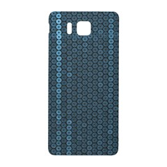 Blue Sparkly Sequin Texture Samsung Galaxy Alpha Hardshell Back Case