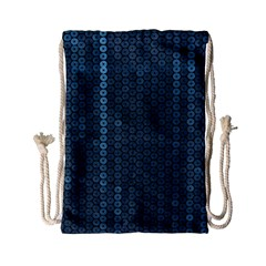 Blue Sparkly Sequin Texture Drawstring Bag (small)