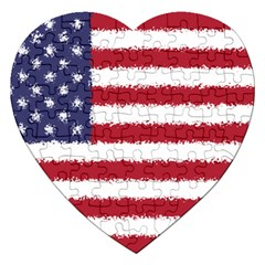 Flag Of The United States America Jigsaw Puzzle (heart)