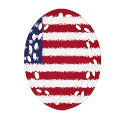 Flag Of The United States America Ornament (oval Filigree)