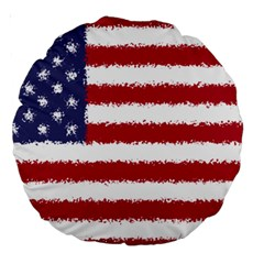 Flag Of The United States America Large 18  Premium Round Cushions