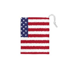 Flag Of The United States America Drawstring Pouches (xs)