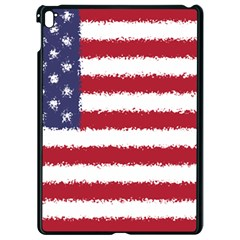 Flag Of The United States America Apple Ipad Pro 9 7   Black Seamless Case