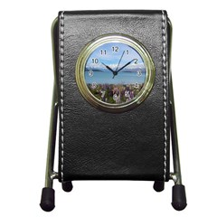 Lake Tekapo New Zealand Landscape Photography Pen Holder Desk Clocks