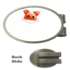 Animal Image Fox Money Clips (oval)