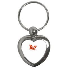 Animal Image Fox Key Chains (heart)