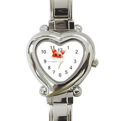 Animal Image Fox Heart Italian Charm Watch