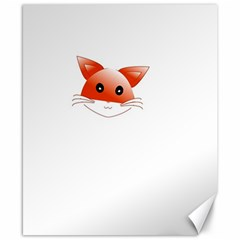 Animal Image Fox Canvas 8  X 10