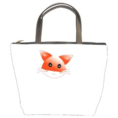 Animal Image Fox Bucket Bags