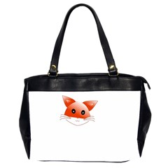 Animal Image Fox Office Handbags (2 Sides)