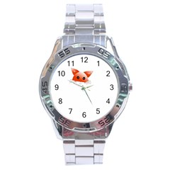 Animal Image Fox Stainless Steel Analogue Watch