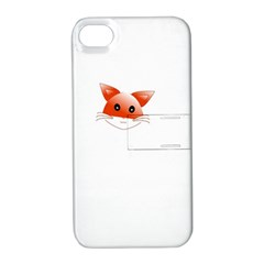 Animal Image Fox Apple Iphone 4/4s Hardshell Case With Stand