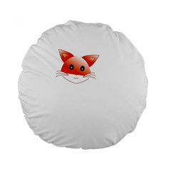 Animal Image Fox Standard 15  Premium Flano Round Cushions