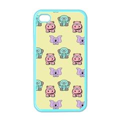 Animals Pastel Children Colorful Apple Iphone 4 Case (color)