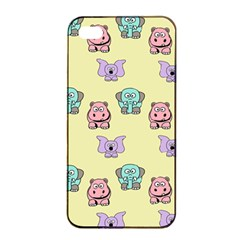 Animals Pastel Children Colorful Apple Iphone 4/4s Seamless Case (black)