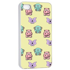 Animals Pastel Children Colorful Apple Iphone 4/4s Seamless Case (white)