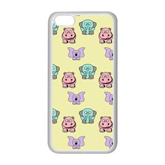 Animals Pastel Children Colorful Apple Iphone 5c Seamless Case (white)